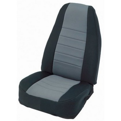 80-95 Wrangler Smittybilt Neoprene Seat Covers - Rear (Black/Charcoal)