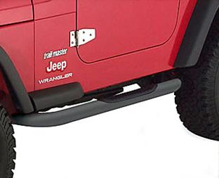 "97-06 Wrangler (TJ) Smittybilt Sure Steps 3"" Side Bar - Black Textured Powder Coat"