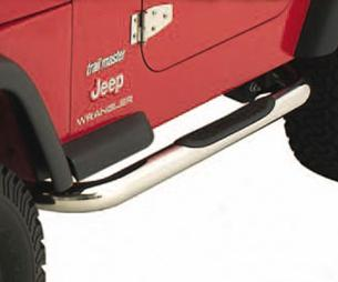 "07-11 Wrangler (JK) - 4 Door Smittybilt Sure Steps 3"" Side Bar - Stainless Steel"