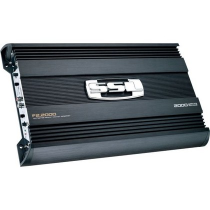 All Cars (Universal) Sound Storm 2000W 2 Channel MOSFET Bridgeable Amplifier High/Low Crossover with Remote Subwoofer Level Control