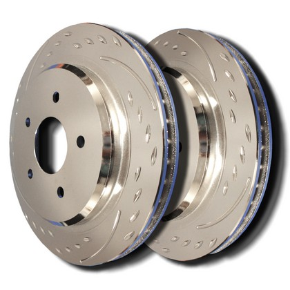 90-93 Nissan Axxess SP Performance Brake Rotors - Diamond Slot Plated (Front)