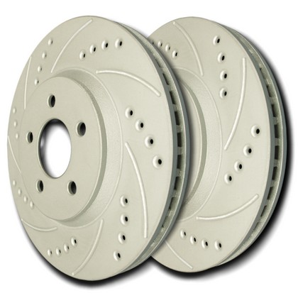 07-11 Toyota Yaris SP Performance Brake Rotors - Drilled & Slotted ZRC (Front)