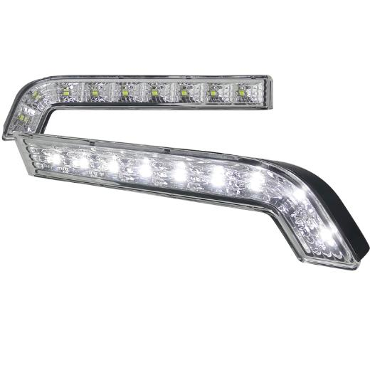 10-Up Ford Mustang  Spec D Gt Daytime Running Light - Clear Lens With White LED