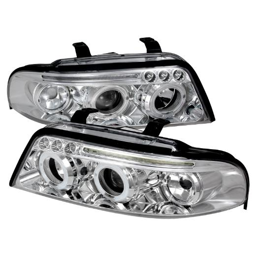 00-01 Audi A4 Spec D Halo Led Projector Chrome
