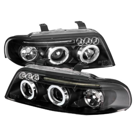 00-01 Audi A4 Spec D Halo Led Projector Black