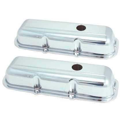 Chevy Pickup 2.8L Spectre Valve Covers - Chrome