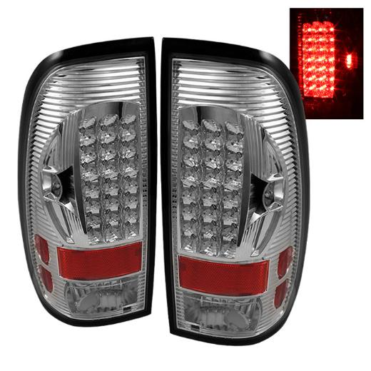 99-07 F350 Super Duty  Spyder LED Tail Lights - Chrome