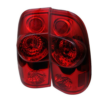 99-07 Ford F350 Spyder LED Tail Lights - Clear (Red)