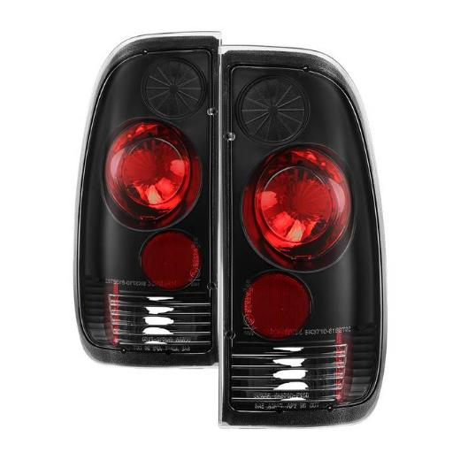 99-07 F350 Super Duty  Spyder Altezza Tail Lights - Black