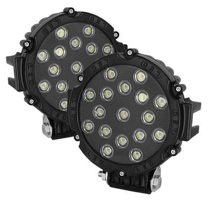 1968-1969 Ford Torino Spyder LED Round Lights - 7-Inch (Black)