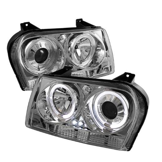 Chrysler 300 05-09   Spyder Auto LED Projector Headlights - Smoke