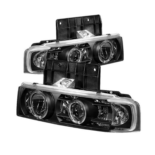 85-05 Astro Spyder Halo Projector Headlights - Black