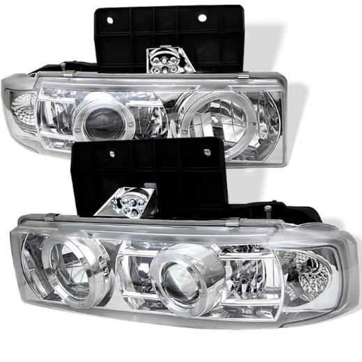 85-05 Astro Spyder Halo Projector Headlights - Chrome