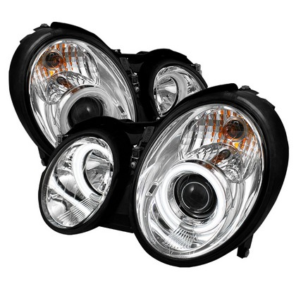 98-02 Mercedes Benz CLK Spyder CCFL Halo Projector Headlights (Chrome)