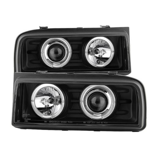90-95 Corrado Spyder Halo Projector Headlights - Black