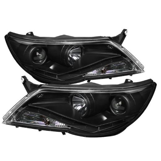 09-11 Volkswagen Tiguan Spyder DRL LED Projector Headlights (Black)