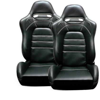 1994-2003 GMC Jimmy Spyder EVO9 Style Adjustable Racing Seat - PVC (Black)