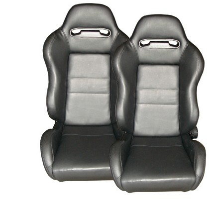 1994-2003 GMC Jimmy Spyder Type-R Adjustable Racing Seat - PVC (Black)