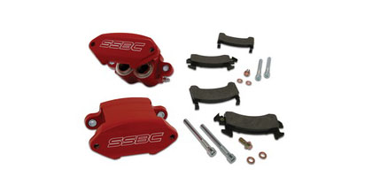 91-97 Sonoma SSBC Disc Brake Pad and Caliper Kit - Polished Calipers (Front)