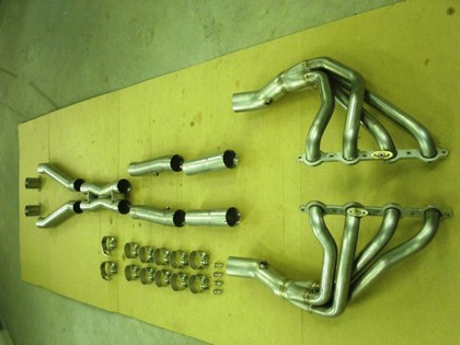 "01-04 Corvette C5 LS1/LS6 Stainless Works 1 3/4"" Headers w/ X-Pipe Off Road�"