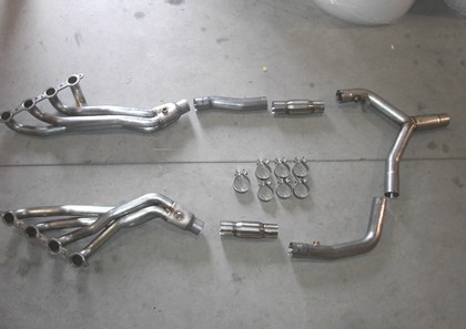 "01-02 Firebird LS1 Stainless Works Headers With a 2 1/2"" Y-Pipe"