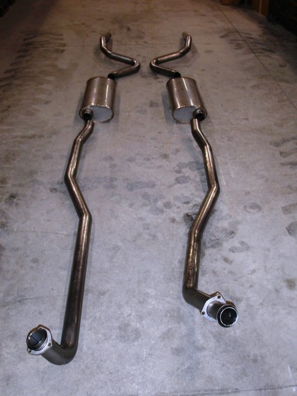 "68-72 Chevelle Big Block Stainless Works Exhaust System CNC mandrel bent 2 1/2"" Everlast 304 stainless.  Designed to fit factory manifolds"