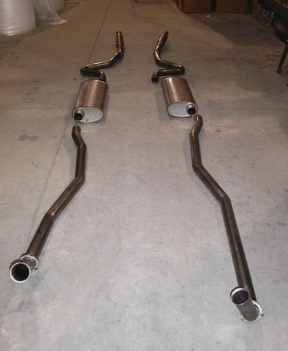 "68-72 Chevelle Big Block Stainless Works Exhaust System CNC mandrel bent 2 1/2"" aluminized steel.  Designed to fit factory manifolds"