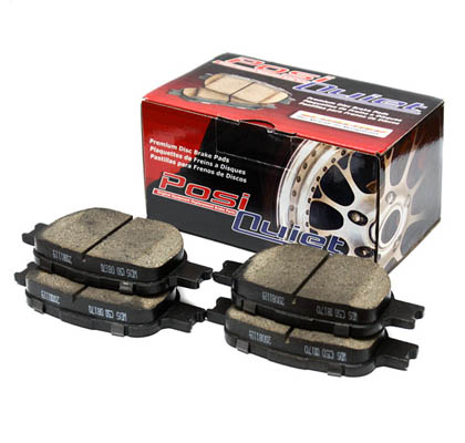89-94 Laser StopTech Posi-Quiet Ceramic Brake Pads - Rear