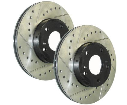 2007-2009 Toyota Yaris StopTech Drilled and Slotted Rotor - Front Left