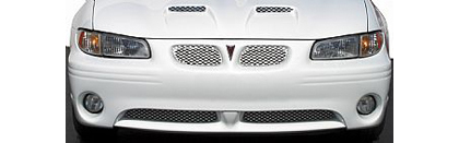 02-04 Mini Cooper Street Scene Cut-Out Grilles - OEM Valance and Bumper (Brushed)