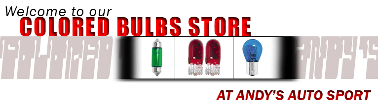 Colored Bulbs at Andy's Auto Sport
