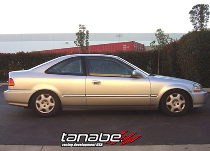 92-95 Civic Coupe/Sedan (Lowering F/R: 1.5 / 1.0) Tanabe GF210 Max Agility Springs