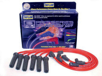 91-94 Isuzu Pick Up 3.1L 6 Cylinder Taylor Spiro-Pro Spark Plug Wires - 8mm Custom 6 Cyl Red