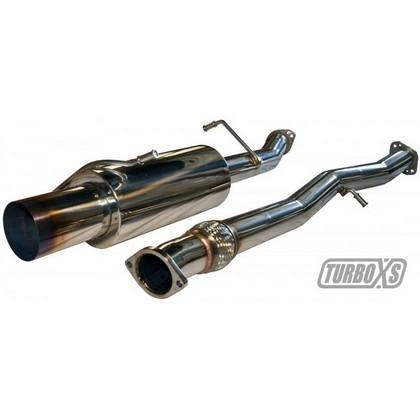2002-2005 Subaru WRX;;2004-2007 Subaru WRX STI TurboXS? Catback Exhaust System with WS02-RMA-TI Muffler and 4.5 Inch Blued Tip
