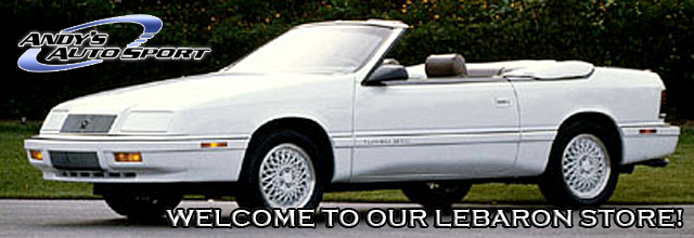 87-92 Chrysler LeBaron Parts at Andy's Auto Sport