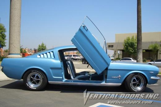67-68 Ford Mustang  Vertical Doors Inc Lambo Doors - Direct Bolt On Kit
