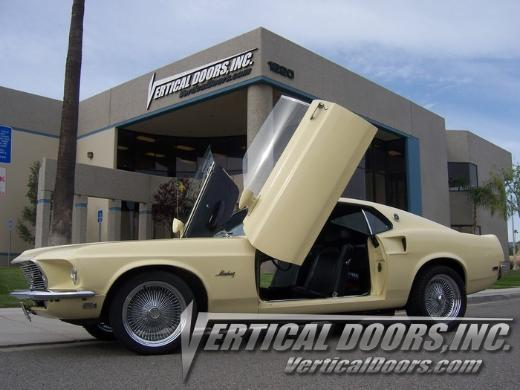 69-70 Ford Mustang  Vertical Doors Inc Lambo Doors - Direct Bolt On Kit