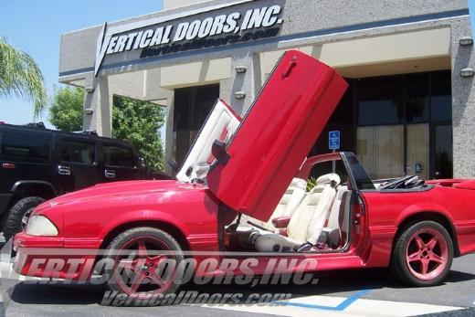 79-93 Ford Mustang  2 Dr Vertical Doors Inc Bolt-On Lambo Door Kit