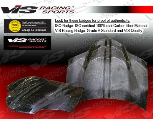 1993-2001 Pontiac Firebird VIS Carbon Fiber Hood - GTO Style