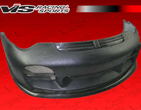 02-04 996 2DR VIS Racing A Tech Body Kit - Front Bumper w/ Carbon Lip & Grill (Carbon Fiber)