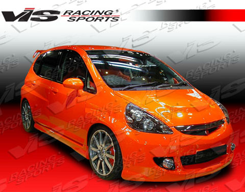 2007-9999 Honda Fit VIS Racing Techno R WB Body Kit - Front Bumper