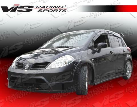 2007-9999 Nissan Versa VIS Racing Rally Body Kit - Side Skirts