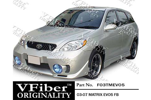 03-04 Toyota Matrix 4DR Vision EVO 5 Style Body Kit - Full Kit w/ Fog Lights