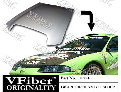 1995-1999 Mitsubishi Eclipse Fast and Furious Roof / Hood Scoop