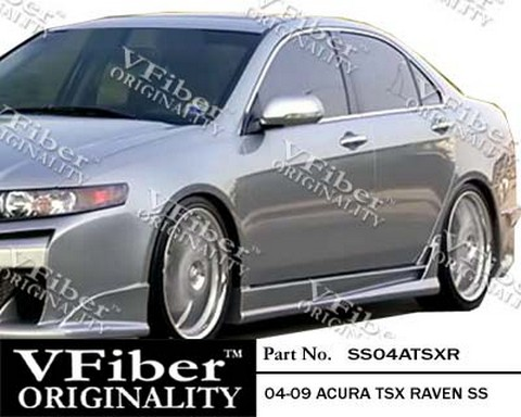 2004-2008 Acura Tsx Vision Raven Body Kit - Side Skirts