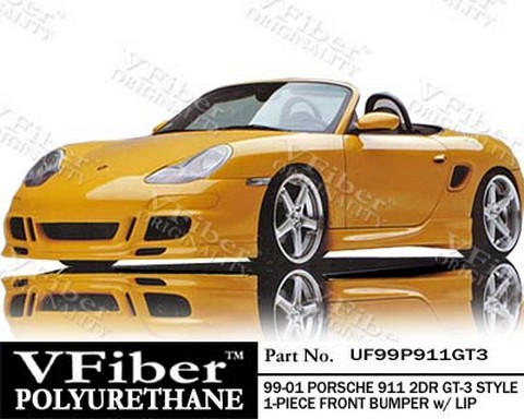 99-01 911 (996) 2dr - Will not fit turbo models Vision GT3-STYLE Body Kit - Front Bumper w/ Lip (Urethane)