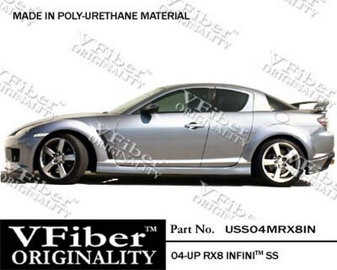 2004-9999 Mazda RX8 Vision Infini Body Kit - Side Skirts (Urethane)