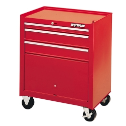 1964-1967 Chevrolet El_Camino Waterloo 3 Drawer Shop Series Tool Cart - Red