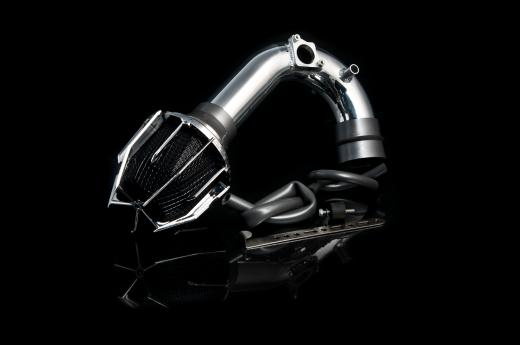 01-04 Highlander 4 Cyl Weapon R Air Intake - Polished Chrome Cage w, Black Foam Filter