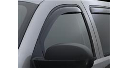 01-07 Highlander�06-Up Highlander Hybrid Weathertech Side Window Deflectors - Front (Dark)